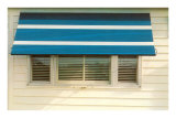 Blue and White Awning Poster