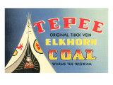 Tepee Elkhorn Coal Posters