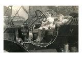 Children in Vintage Car Prints