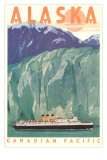 Cruise Liner by Alaskan Glacier Photo