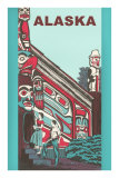 Alaska Building with Tlingit Motifs Prints