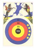 Cowboy and Indian Target Practice Prints