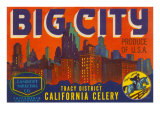 Big City Celery Crate Label Prints