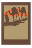 Woodcut of Camels and Nomad Posters