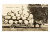 Giant Apples in Mule Cart Print
