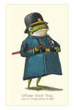 Doleful Frog as Policeman Kunstdrucke