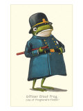 Doleful Frog as Policeman Prints
