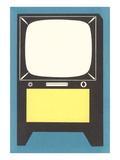 Blank Television Set Plakater