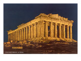 Parthenon at Night, Acropolis Posters