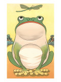 Cartoon Frog and Dragonfly Prints