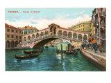 Rialto Bridge, Venice Print