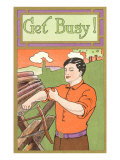 Get Busy Sawyer Poster