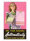 Dry Your Washing Automatically Posters