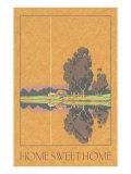 Home Sweet Home, Trees by Lake Prints