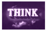 Think, Purple Print