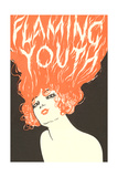 Flaming Youth, Woman with Flaming Hair Juliste