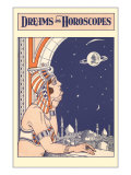 Dreams and Horoscopes, Mooning Harem Girl Prints