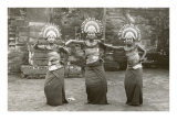 Balinese Temple Dancers Art