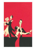 Two Couples Ballroom Dancing Print
