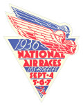 1936 National Air Races Logo Print