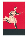 Cartoon Tango Dancers Prints