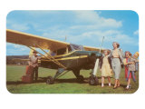 Fifties Family with Private Plane Prints