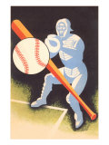 Baseball, Bat, Catcher Prints