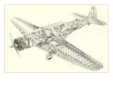 Cutaway Illustration of Aircraft Print