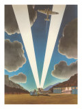 Airplanes with Searchlights Poster