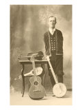 Armless Man with Stringed Instruments Poster