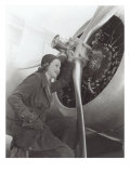 Aviatrix with Prop Engine Poster
