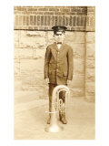Boy with Sousaphone Print