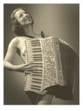 Nude Woman with Accordion Prints