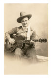 Cowboy Singer with Guitar Poster