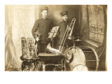 Trumpeter and Trombone Player Prints