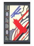 Biplane over London Bridge Prints