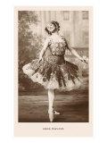 Anna Pavlova in Ballet Pose Kunstdrucke