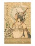 Woman in Fantasy Costume Prints