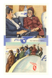 Ladies on Pan American Airplanes Print