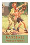 Baseball, America&#39;s Pastime Affiche