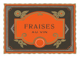 Fraises Au Vin Label Prints