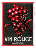 Vin Rouge Label Poster