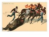 Dragging Away the Bull Prints