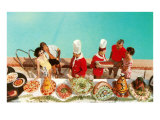 Fifties Deluxe Buffet Poster