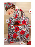 Patterned Bag and Headscarf Poster