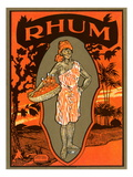 Rhum, Caribbean Woodcut Prints