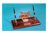 Desk Set with Trotting Horse Prints