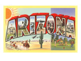 Large Letter Arizona Posters