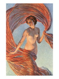 Aurora, Nude Woman with Flying Drape Posters