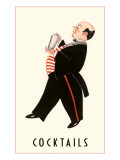 English Butler with Martini Shaker Print